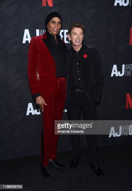 """RuPaul Charles and Michael Patrick King arrive at the premiere of Netflix's """"AJ And The Queen"""" Season 1 at the Egyptian Theatre on January 09, 2020..."""