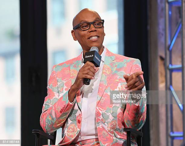 RuPaul Charles attends AOL Build Speakers Series RuPaul RuPaul's Drag Race at AOL Studios In New York on March 7 2016 in New York City