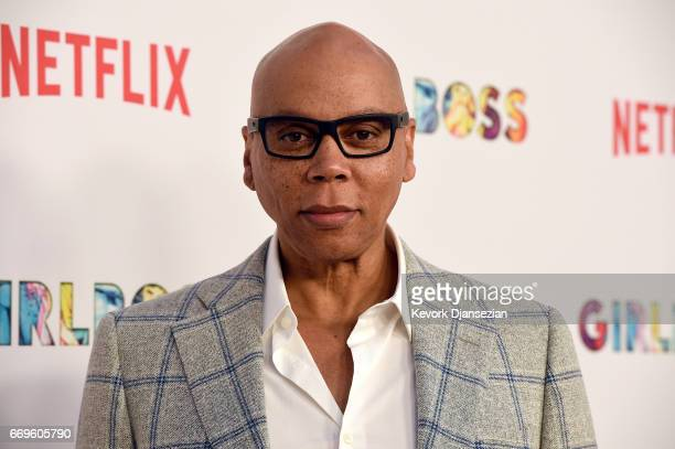 RuPaul Charles attends the premiere of Netflix's Girlboss at ArcLight Cinemas on April 17 2017 in Hollywood California