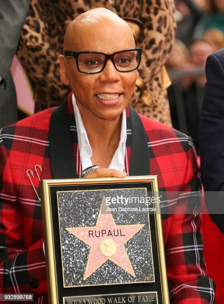 RuPaul honored with a Star on The Hollywood Walk Of Fame on March 16 2018 in Hollywood California