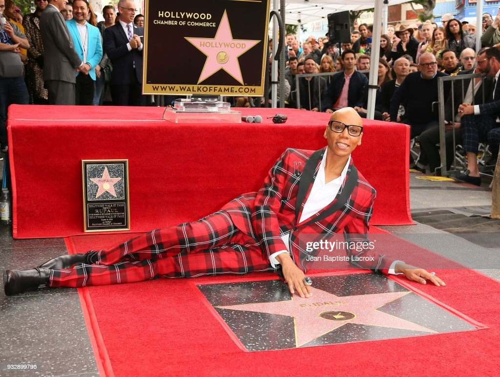 Condragulations! RuPaul gets star on Hollywood Walk of Fame
