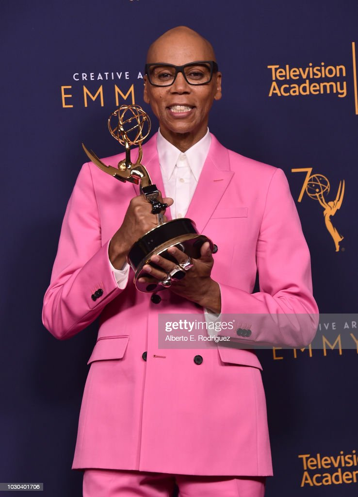 RuPaul poses in the press room during the 2018 Creative Arts Emmys at Microsoft Theater on September 9, 2018 in Los Angeles, California.