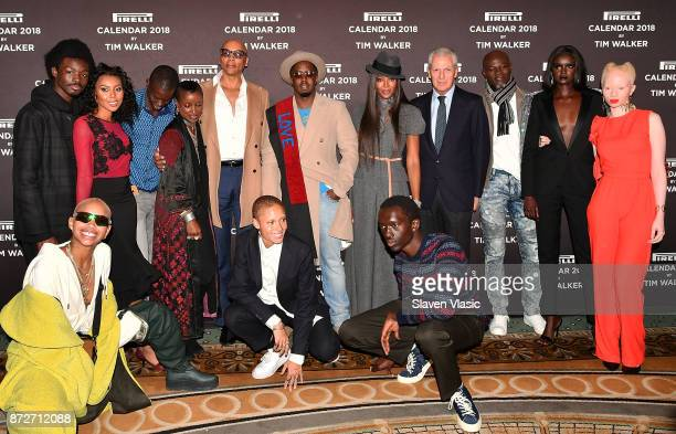 RuPaul Sean 'Diddy' Combs Naomi Campbell Djimon Hounsou Pirelli Tyre SpA chief executive Marco Tronchetti Provera and participants of the Pirelli...