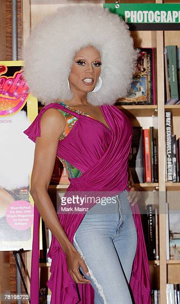 RuPaul signs copies of Starbooty at the Virgin Megastore November 30 2007 in Hollywood California