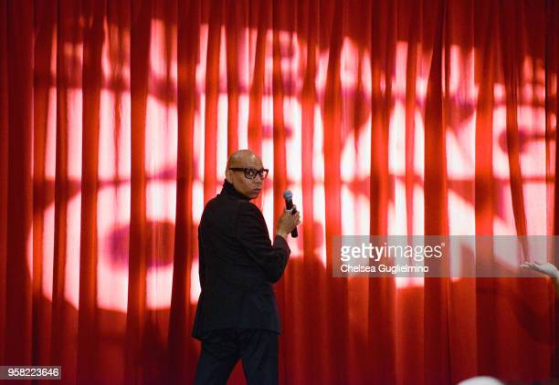 RuPaul speaks at 4th Annual RuPaul's DragCon at Los Angeles Convention Center on May 13 2018 in Los Angeles California