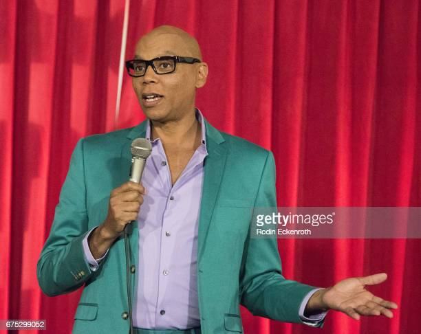 RuPaul speaks onstage during keynote address at the 3rd annual RuPaul's DragCon at Los Angeles Convention Center on April 30 2017 in Los Angeles...