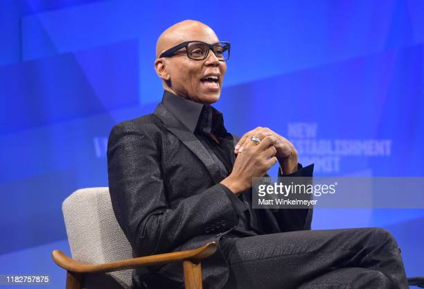 RuPaul speaks onstage during 'Long Live the Queen The Business of Being RuPaul' at Vanity Fair's 6th Annual New Establishment Summit at Wallis...