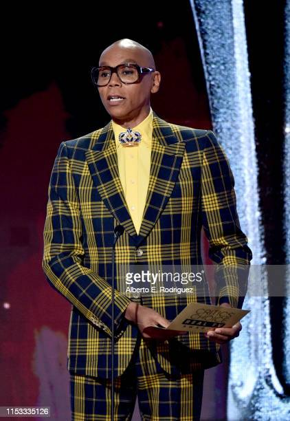 RuPaul speaks onstage during the Critics' Choice Real TV Awards at The Beverly Hilton Hotel on June 02, 2019 in Beverly Hills, California.