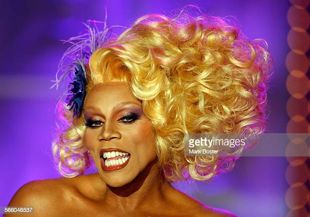 RuPaul takes the stage during the taping of RuPaul's Drag Race Season 2 in Culver City JULY 31 2009 The television show's host drag queen RuPaul...