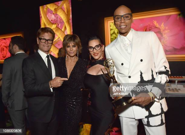 RuPaul winner of the award for Outstanding Host for a Reality or RealityCompetition Program for RuPaul's Drag Race and Harry Hamilin Lisa Rinna and...