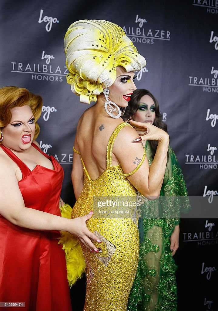 RuPaul's Drag Race All-Stars, Ginger Mini, Alyssa Edwards and Phi Phi O' Hara attend 2016 Trailblazer Honors at Cathedral of St. John the Divine on June 23, 2016 in New York City.