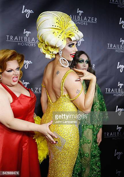 RuPaul's Drag Race AllStars Ginger Mini Alyssa Edwards and Phi Phi O' Hara attend 2016 Trailblazer Honors at Cathedral of St John the Divine on June...