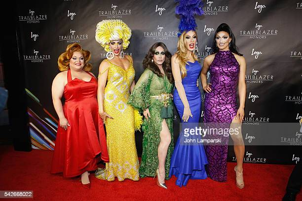 RuPaul's Drag Race AllStars Ginger Mini Alyssa Edwards Phi Phi O' Hara Alaska Thunderfuck and Tatiana attend 2016 Trailblazer Honors at Cathedral of...