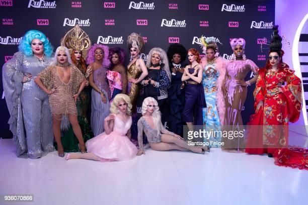 'RuPaul's Drag Race' Season 10 cast Eureka O' Hara Vanessa Vanjie Mateo Kameron Michaels The Vixen Monique Heart Miz Cracker Dusty Ray Bottoms...