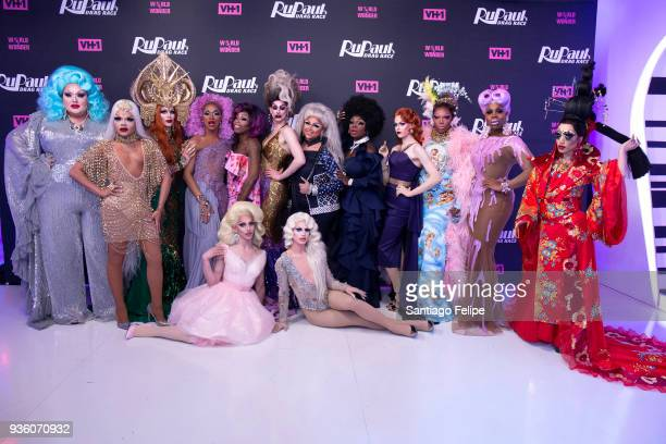 'RuPaul's Drag Race' Season 10 cast Eureka O' Hara Vanessa Vanjie Mateo Kameron Michaels The Vixen Monique Heart Miz Cracker Dusty Ray Bottoms...