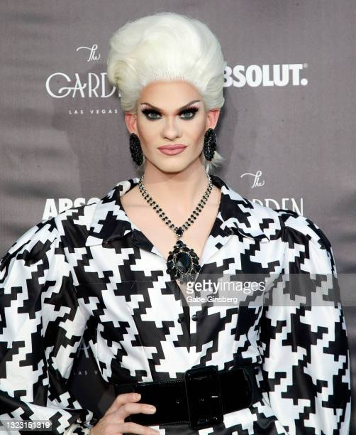 """RuPaul's Drag Race"""" season 13 contestant Elliott with 2 Ts attends the one year anniversary party at The Garden Las Vegas on June 11, 2021 in Las..."""