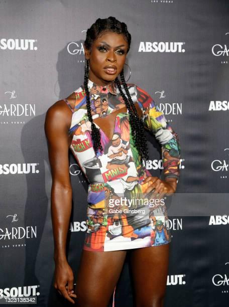 "RuPaul's Drag Race"" season 13 winner Symone attends the one year anniversary party at The Garden Las Vegas on June 11, 2021 in Las Vegas, Nevada."