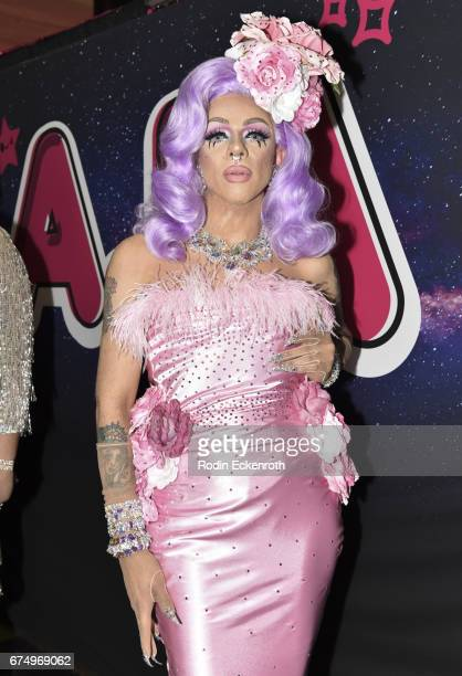 RuPaul's Drag Race Season 9 alumni Aja poses for portrait at 3rd annual RuPaul's DragCon at Los Angeles Convention Center on April 29 2017 in Los...