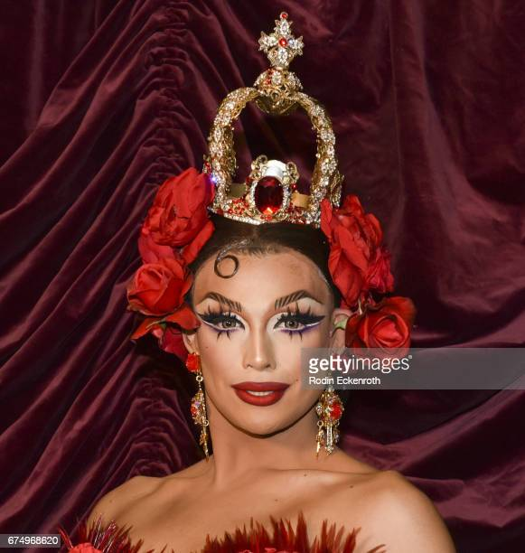 RuPaul's Drag Race Season 9 alumni Valentina poses for portrait at 3rd annual RuPaul's DragCon at Los Angeles Convention Center on April 29 2017 in...