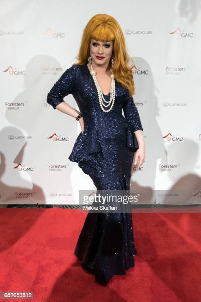 RuPaul's Drag Race winner and Crescendo Gale EmCee Jinkx Monsoon arrives at San Francisco Gay Men's Chorus' 11th Annual Crescendo Gala Fundraiser at...
