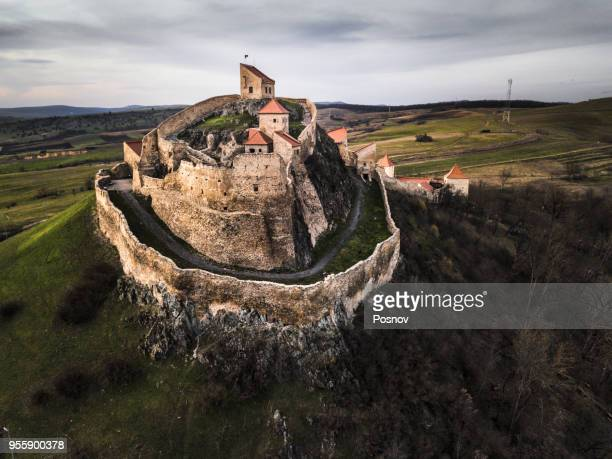 rupea citadel - transylvania stock pictures, royalty-free photos & images