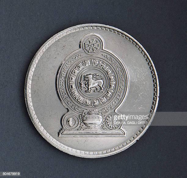 2 rupees coin reverse Sri Lanka 20th century