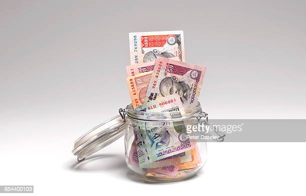rupees savings in jar