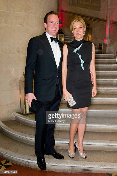 Rupert Adams and Nadja Swarovski attend the British Fashion Awards at Royal Courts of Justice Strand on December 9 2009 in London England