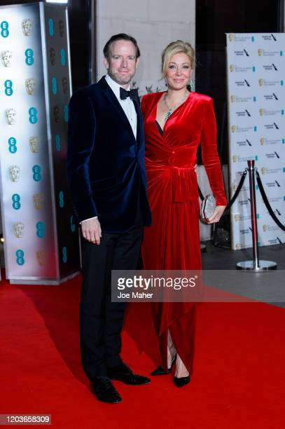 Rupert Adams and Nadja Swarovski attend the EE British Academy Film Awards 2020 After Party at The Grosvenor House Hotel on February 02, 2020 in...