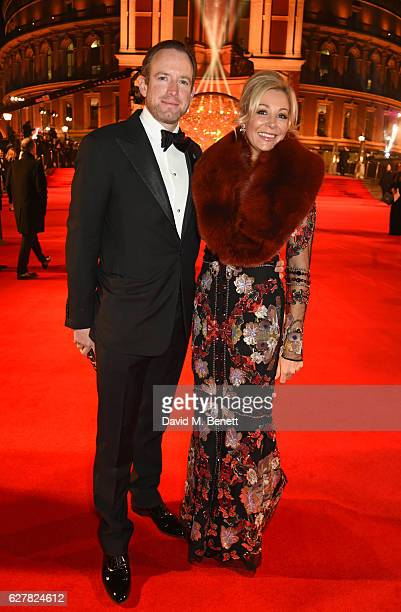 Rupert Adams and Nadja Swarovski attend The Fashion Awards 2016 at Royal Albert Hall on December 5 2016 in London United Kingdom