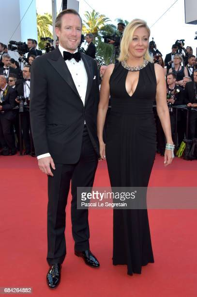 Rupert Adams and Nadja Swarovski attend the Ismael's Ghosts screening and Opening Gala during the 70th annual Cannes Film Festival at Palais des...