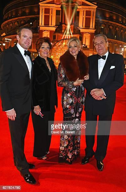 Rupert Adams Danna Swarovski Nadja Swarovski and Helmut Swarovski attend The Fashion Awards 2016 at Royal Albert Hall on December 5 2016 in London...