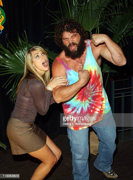 Rupert Boneham and Jenna Lewis during Survivor All Stars The Final Episode at Madison Square Garden in New York City New York United States