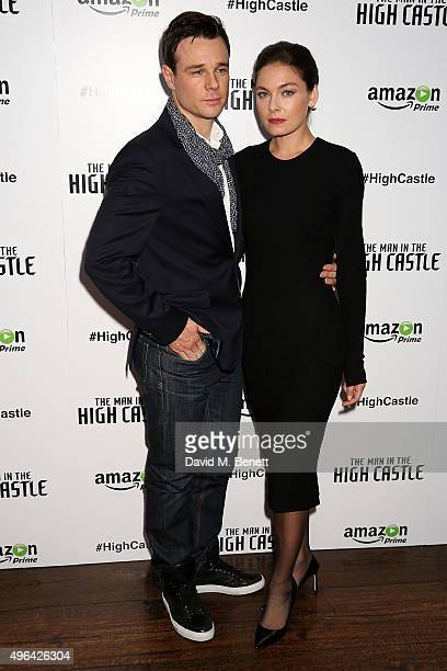 Rupert Evans and Alexa Davalos attend the European Premiere of the second episode of Amazon's original series 'The Man In The High Castle' at the...