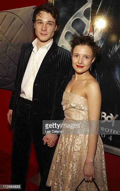 "Rupert Evans and Lyndsey Marshal during ""Hellboy"" Los Angeles Premiere - Red Carpet at Mann Village Westwood in Westwood, California, United States."