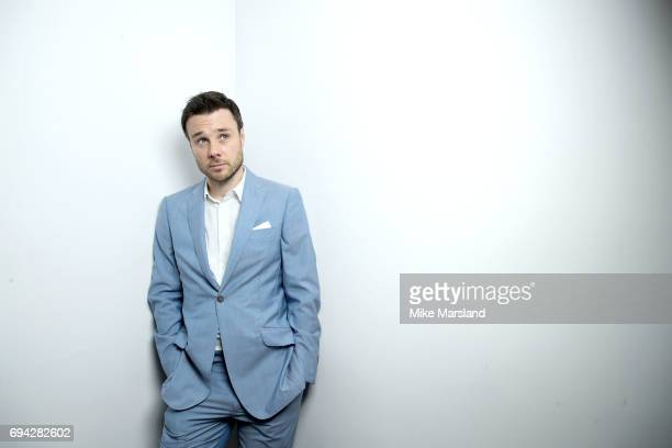 Rupert Evans attends London Fashion Week Men's June 2017 collections on June 9 2017 in London England