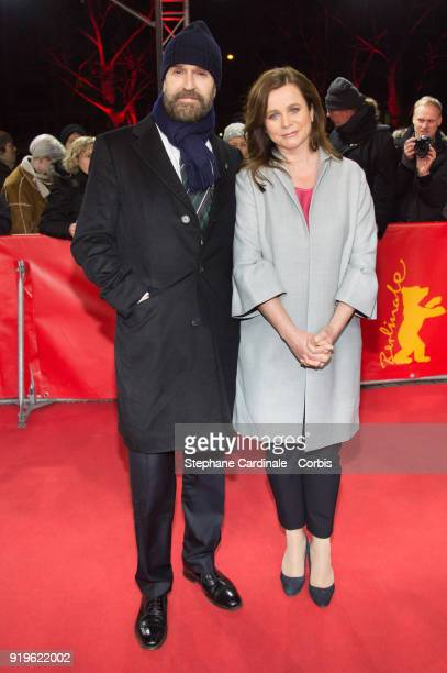 Rupert Everett and Emily Watson attend the 'The Happy Prince' premiere during the 68th Berlinale International Film Festival Berlin at...