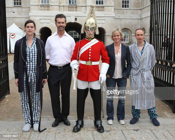 Rupert Everett and Hermione Norris launch the eighth annual Maggie's London Night Hike at Horse Guards Parade on August 15 2012 in London England