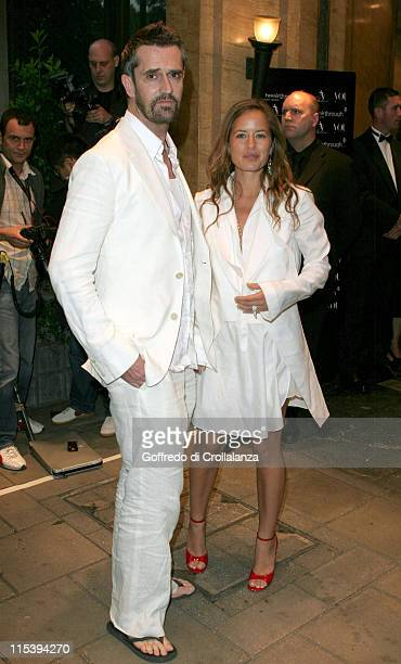 Rupert Everett and Jade Jagger during The Art of Fashion Arrivals at The Dorchester in London Great Britain