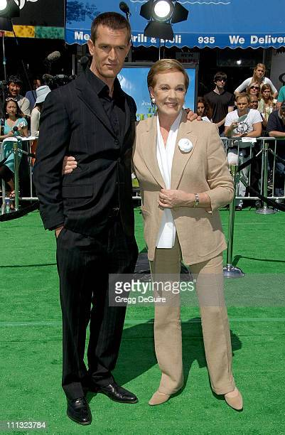 Rupert Everett and Julie Andrews during Shrek the Third Los Angeles Premiere Arrivals at Mann Village Theatre in Westwood California United States