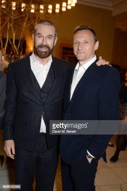 Rupert Everett and Zygi Kamasa attend an after party following the UK Premiere of 'The Happy Prince' hosted by Justine Picardie editor of Harper's...