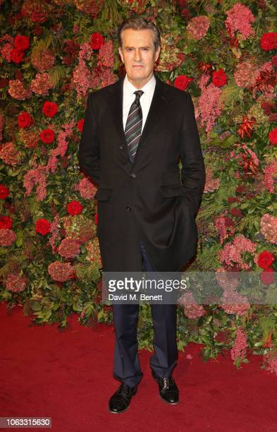 Rupert Everett arrives at The 64th Evening Standard Theatre Awards at the Theatre Royal Drury Lane on November 18 2018 in London England