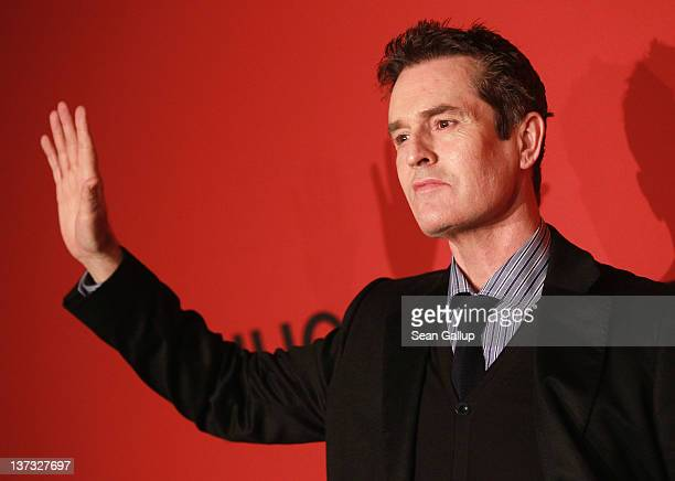 Rupert Everett arrives at the Hugo by Hugo Boss Autumn/Winter 2012 fashion show during MercedesBenz Fashion Week Berlin at Gemaldegalerie on January...