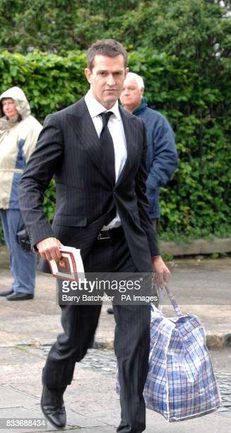 Rupert Everett arrives for the funeral of Isabella Blow at Gloucester Cathedral