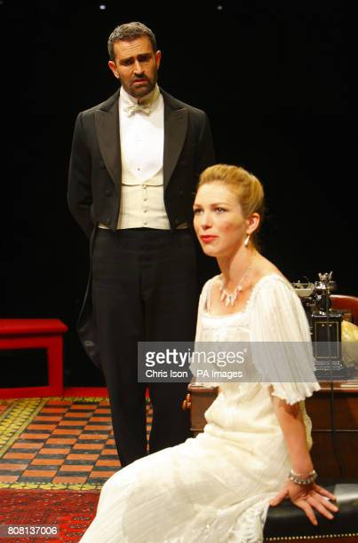 Rupert Everett as Professor Henry Higgins and Honeysuckle Weeks as Liza Doolittle in George Bernard Shaw's Pygmalion at the Festival Theatre in...