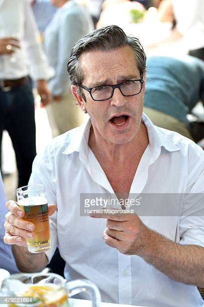 Rupert Everett attends the FFF reception during the Munich Film Festival at Praterinsel on July 2 2015 in Munich Germany