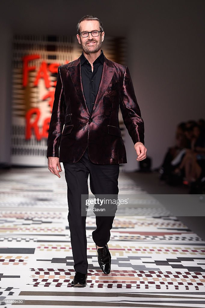 Rupert Everett walks the runway at the Fashion For Relief charity fashion show to kick off London Fashion Week Fall/Winter 2015/16 at Somerset House on February 19, 2015 in London, England. The Fashion For Relief show is in support of Ebola, raising funds and awareness for Disaster Emergency Committee: Ebola Crisis Appeal and the Ebola Survival Fund.