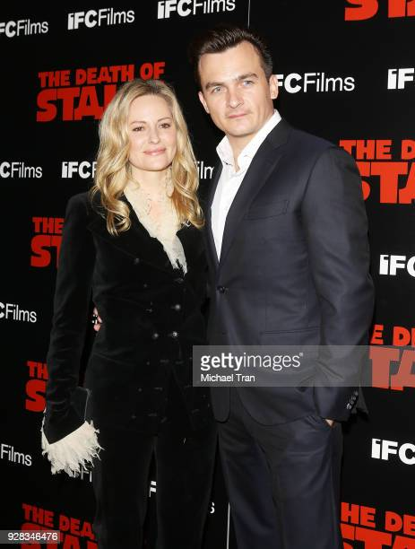 Rupert Friend and Aimee Mullins arrive to the Los Angeles premiere of IFC Films' 'The Death Of Stalin' held at The Theatre at Ace Hotel on March 6...