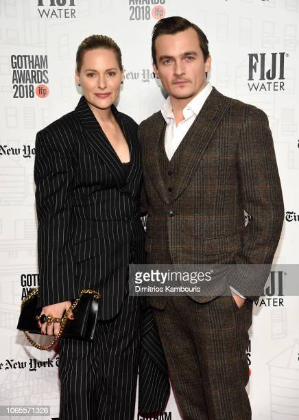 Rupert Friend and Aimee Mullins attend IFP's 28th Annual Gotham Independent Film Awards at Cipriani Wall Street on November 26 2018 in New York City