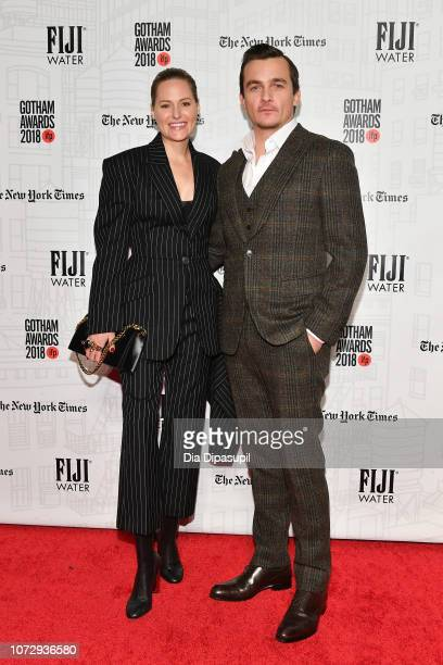 Rupert Friend and Aimee Mullins attend the 2018 IFP Gotham Awards at Cipriani Wall Street on November 26 2018 in New York City